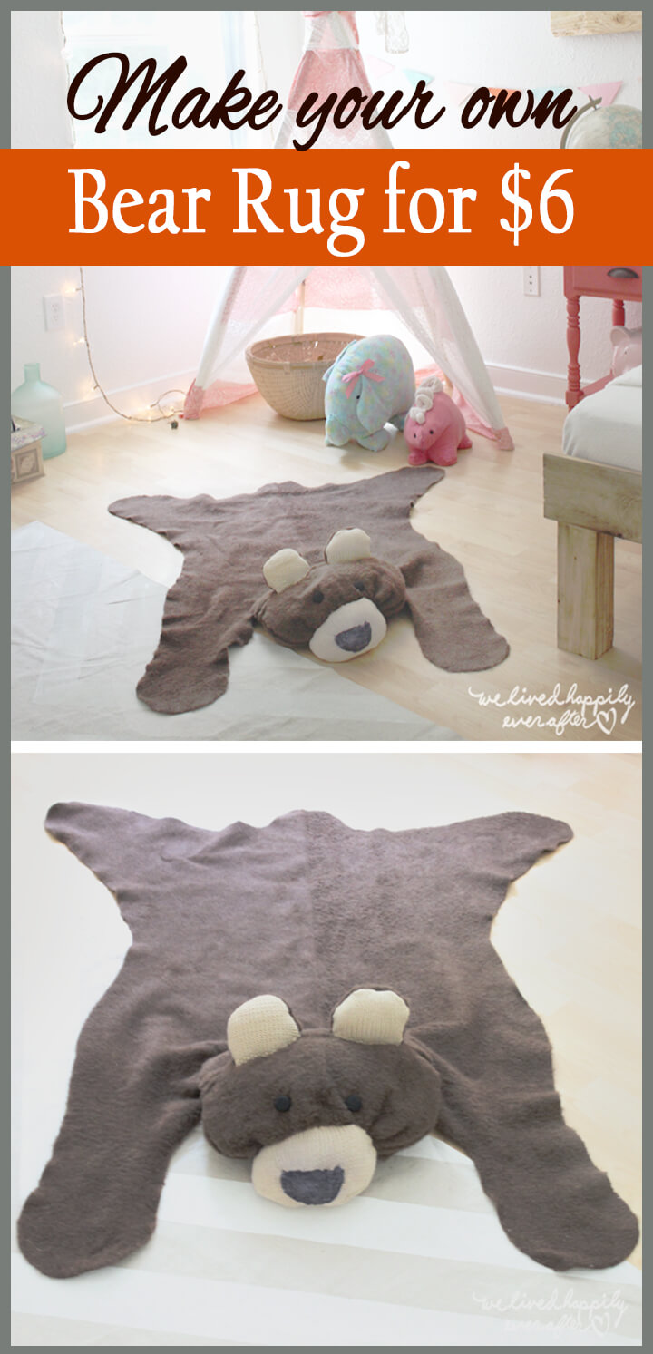 $6 Teddy Bear Floor Throw