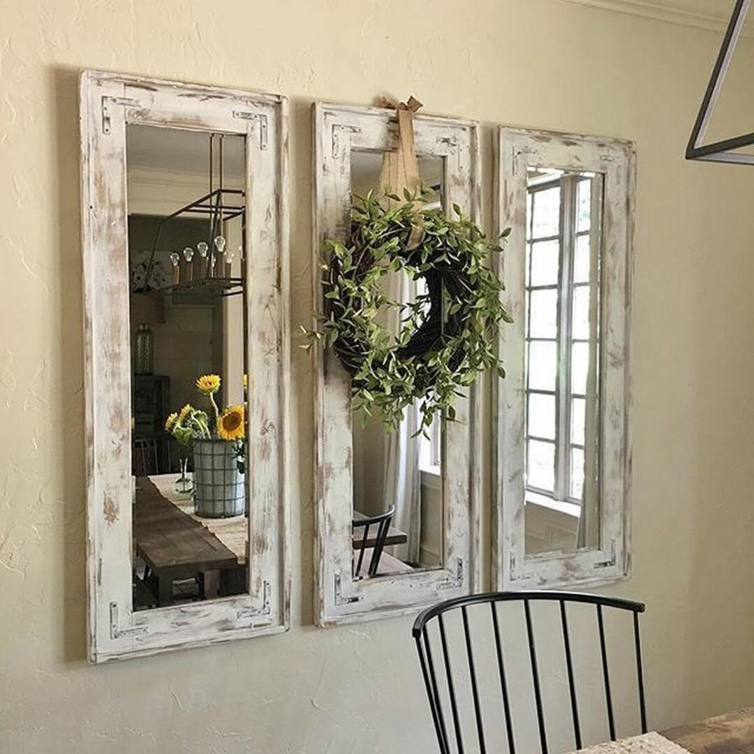 4. A Trio Of Shabby Chic Mirrors