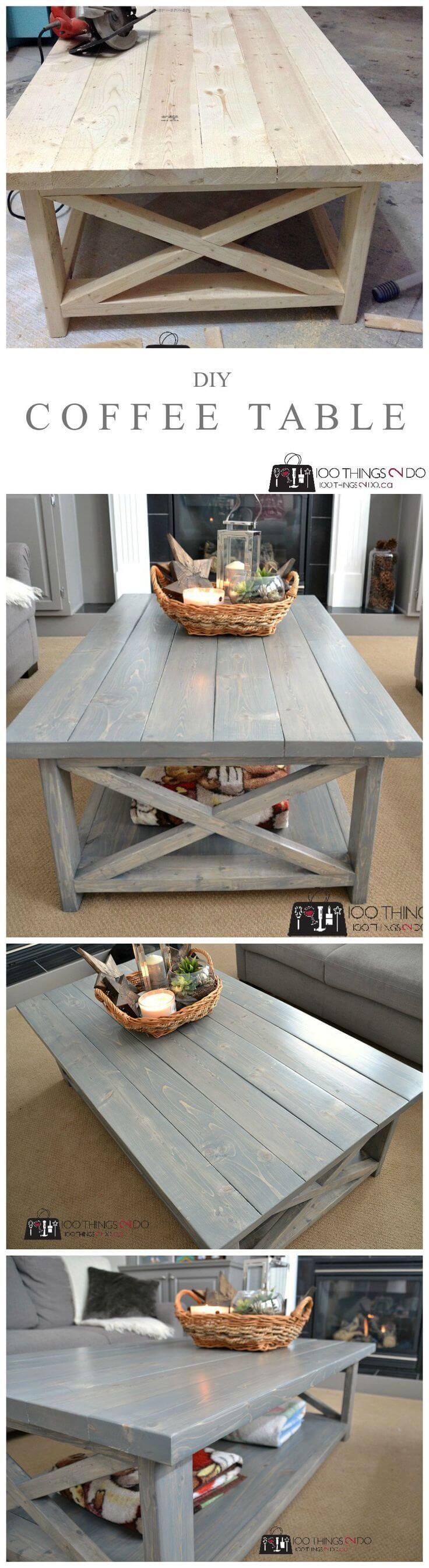25 Best DIY Farmhouse Coffee Table Ideas and Designs for 2017