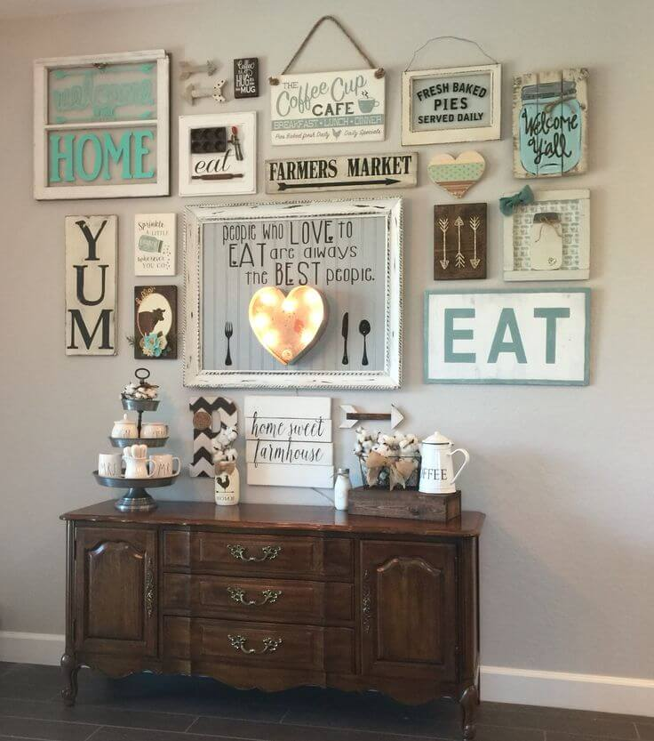 Ideas For Kitchen Wall Decor: 45+ Best Farmhouse Wall Decor Ideas And Designs For 2019