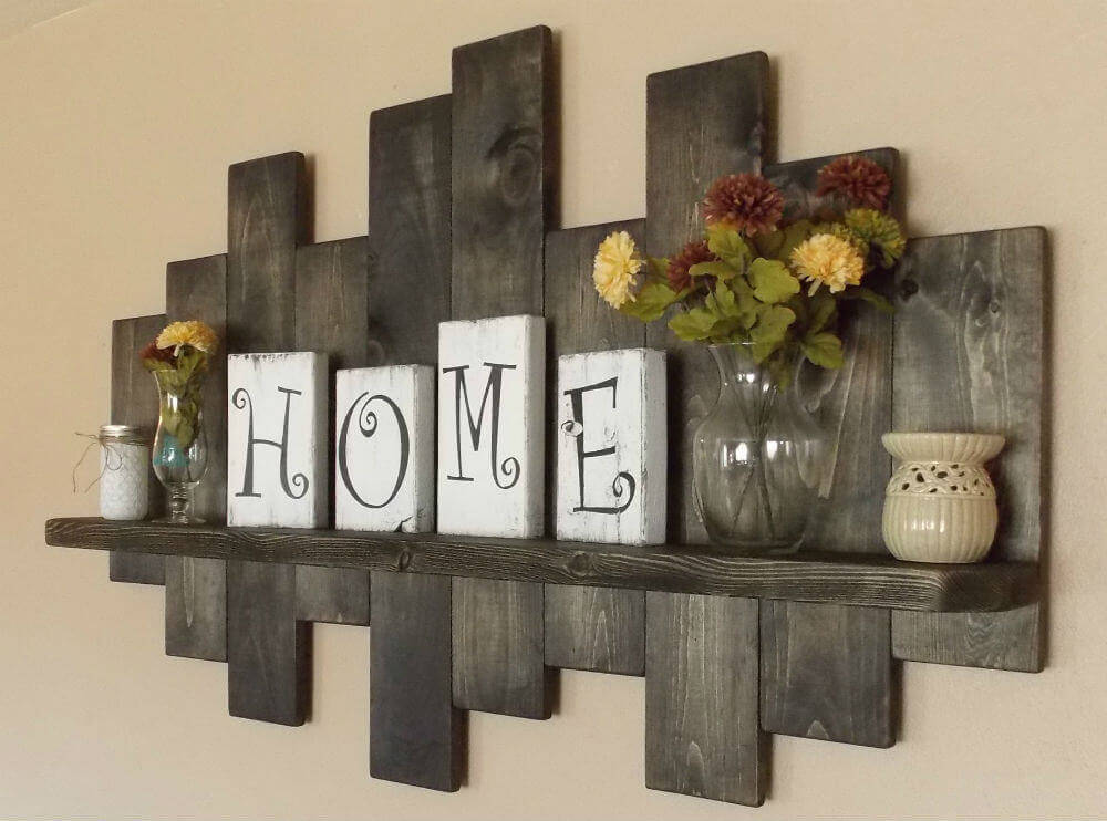 Rustic Home Decor Ideas for Wall Shelves
