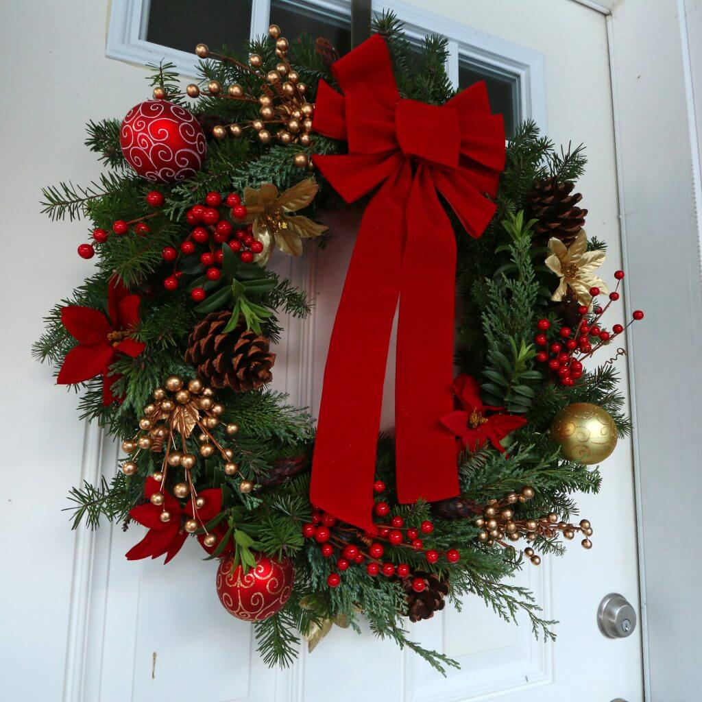 Hand Made Traditional Christmas Wreath