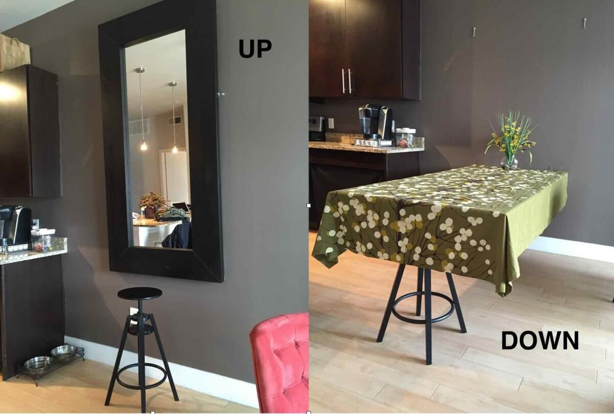 Painless and Snazzy Convertible Mirror-Table