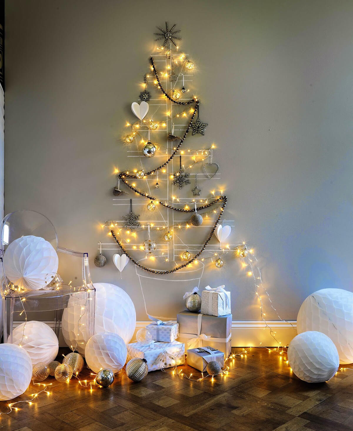 Superbe 35 Best Christmas Wall Decor Ideas And Designs For 2019