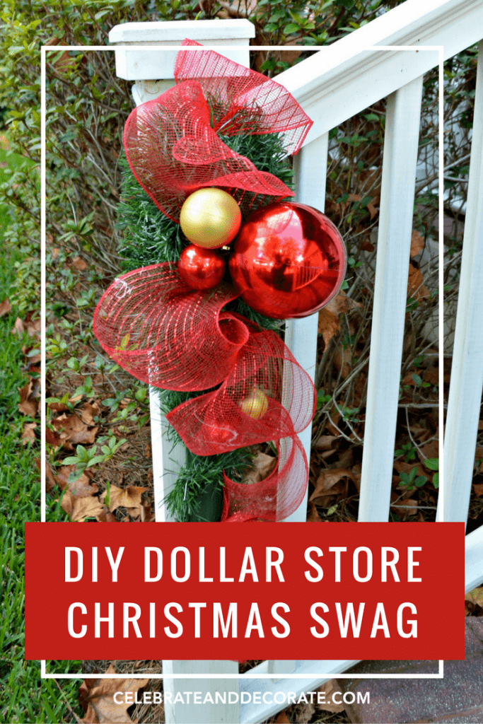 Green and Glossy Porch Rail Garland