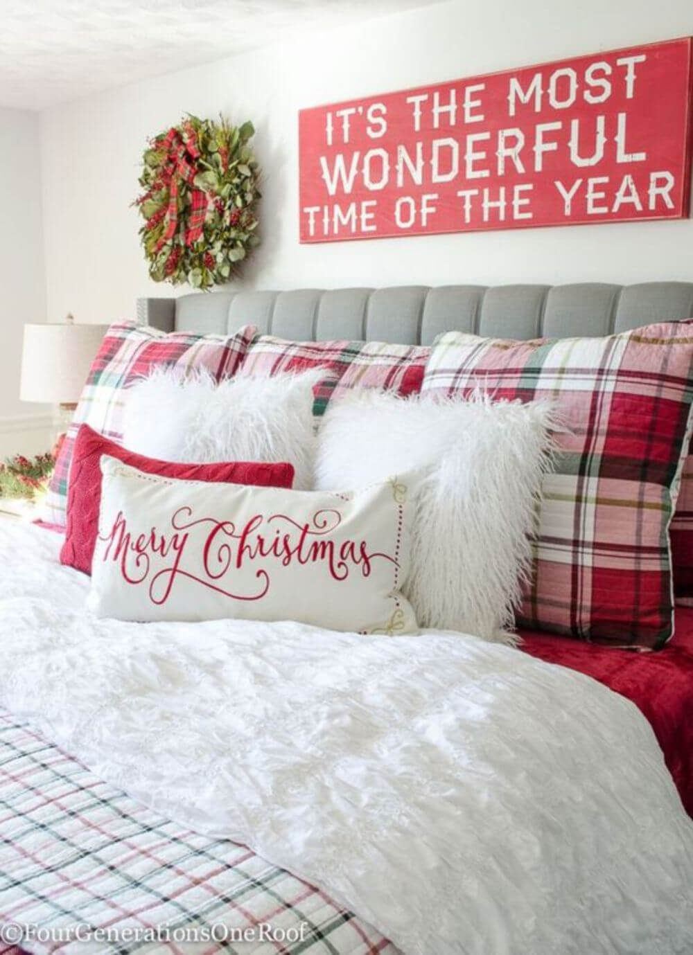 Plaid and Faux Fur Bedding Suite