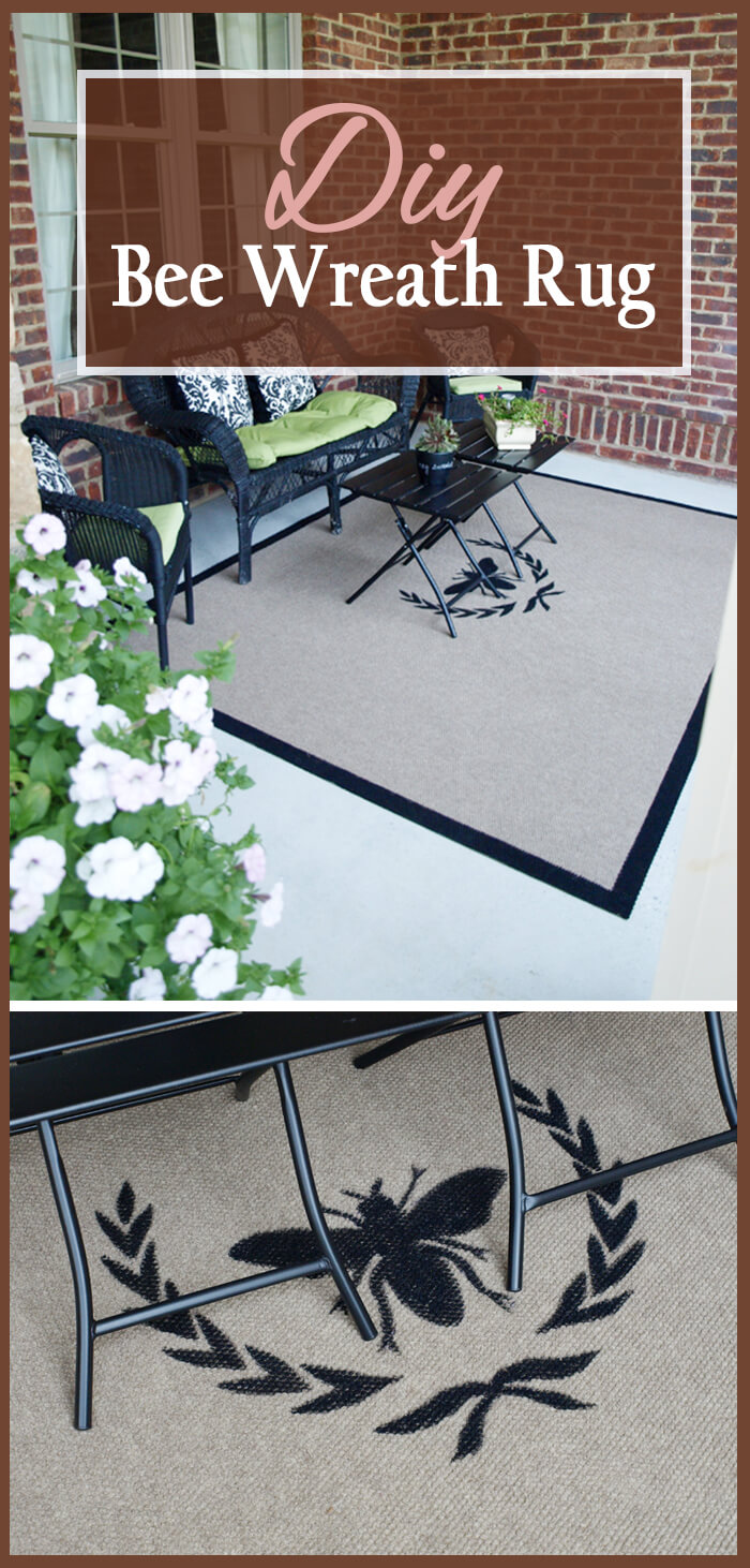Elegant Hand-Painted Outdoor Bee Mat