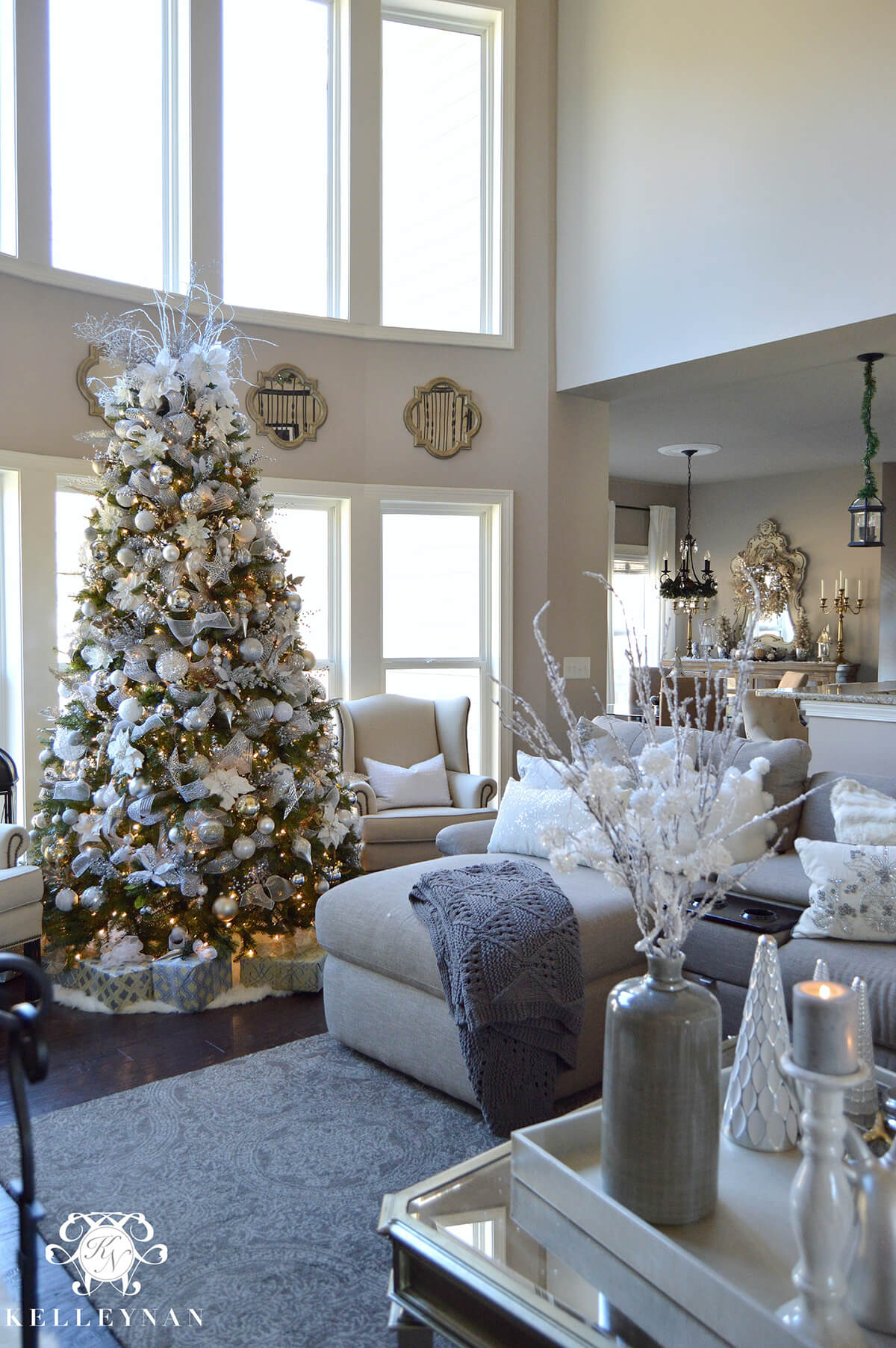 Exceptional 12. Tree In Silvery White Grandeur