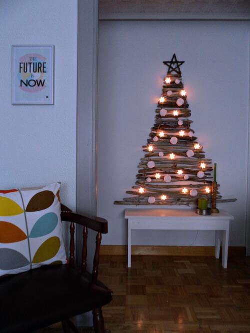 Christmas Tree from Sticks