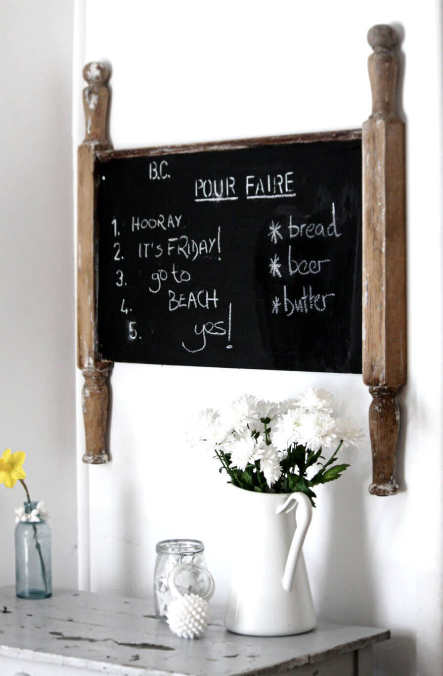 Nostalgic Erasable Black Reminder Board