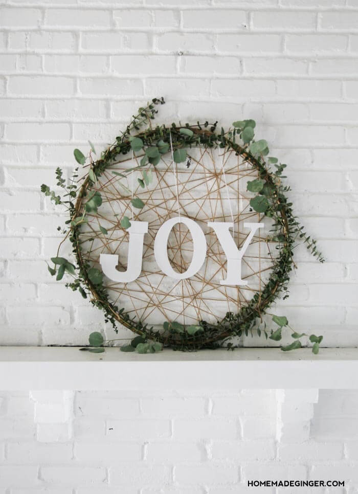 Winter Greens Dreamcatcher for Your Mantel