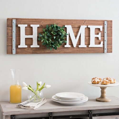 Dimensional Barn Wood HOME Accent