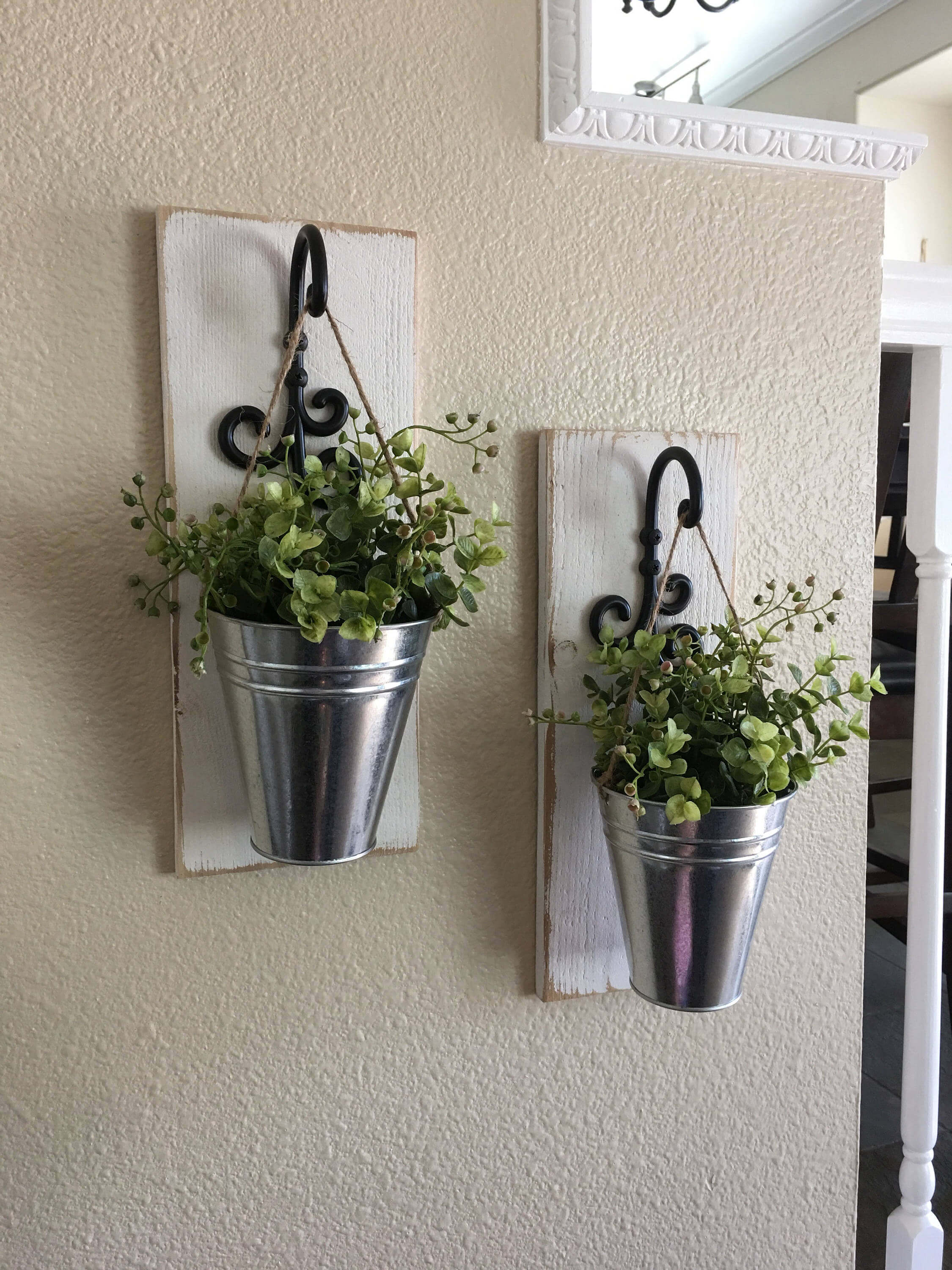 Steel, Iron, and Plank Plant Hangers