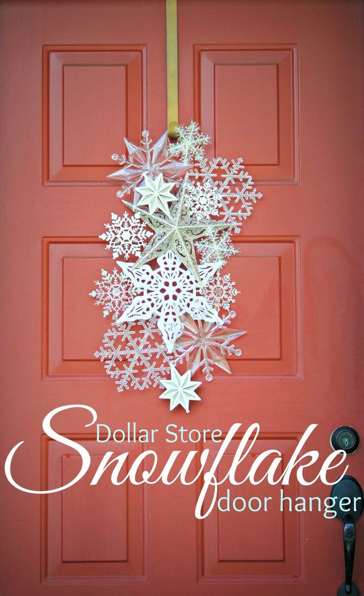 Elegant Front Door Paper Snowflake Collage