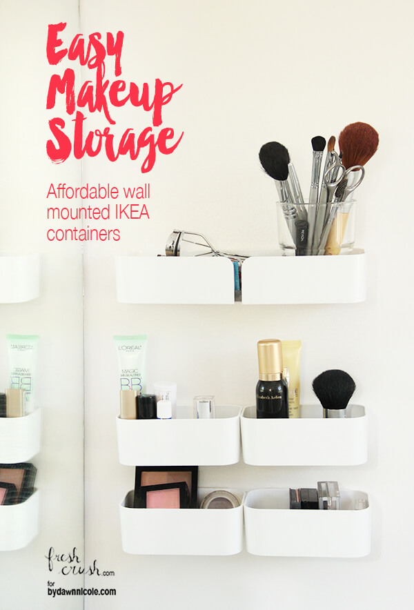 Cheap and Chic Wall Containers for Cosmetics
