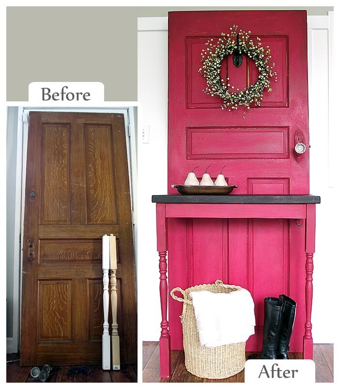 Grand Entryway Door and Table Statement Piece