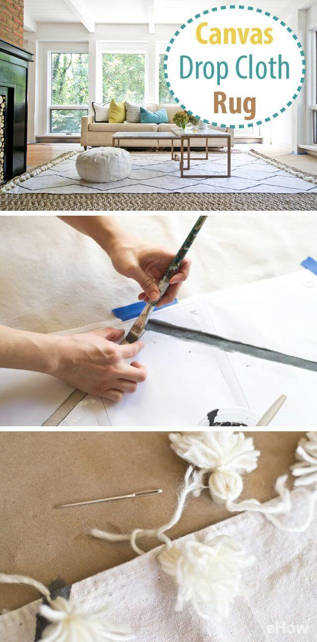 Quickly Transform a Canvas Drop Cloth