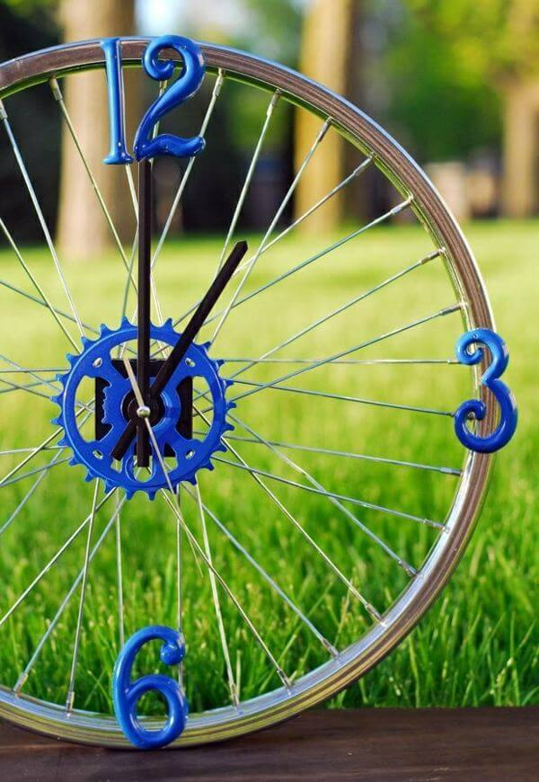 Bycicle Rim Clock for Bike Fans