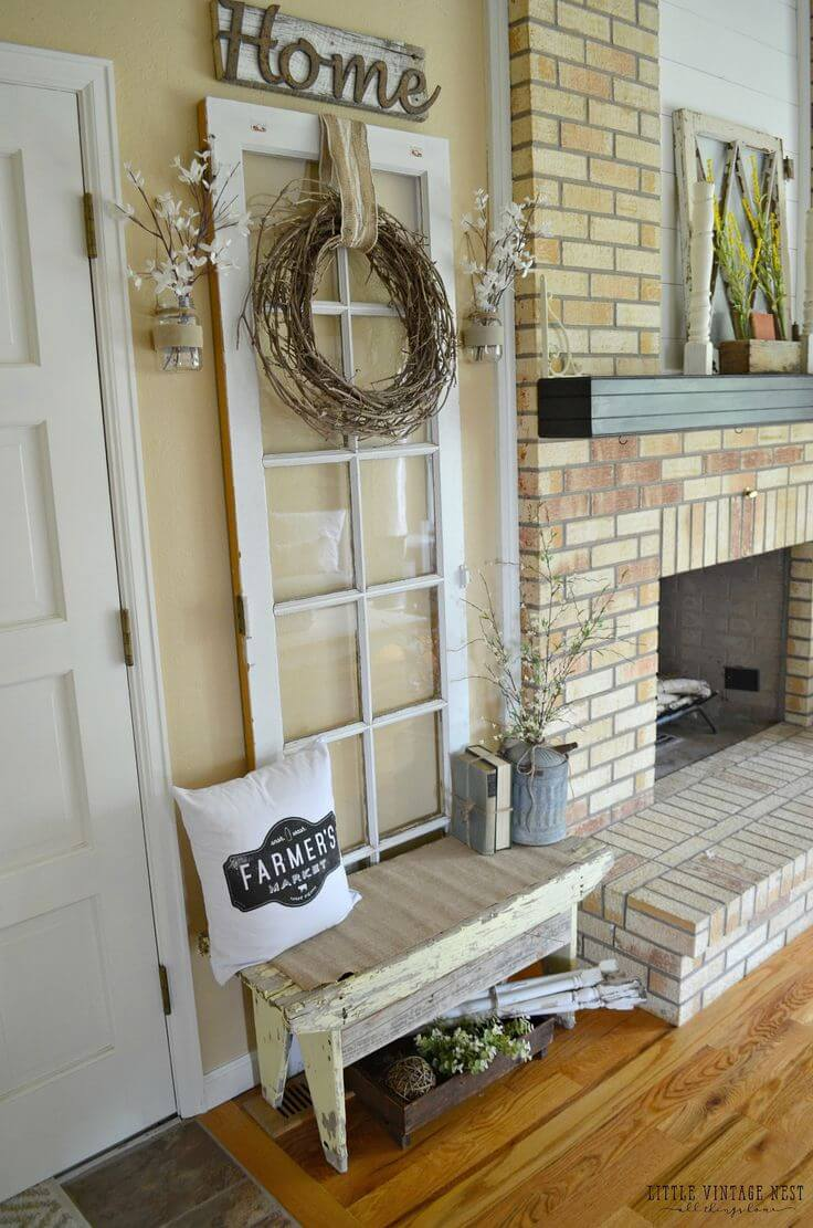 Homey French Door Floral Décor