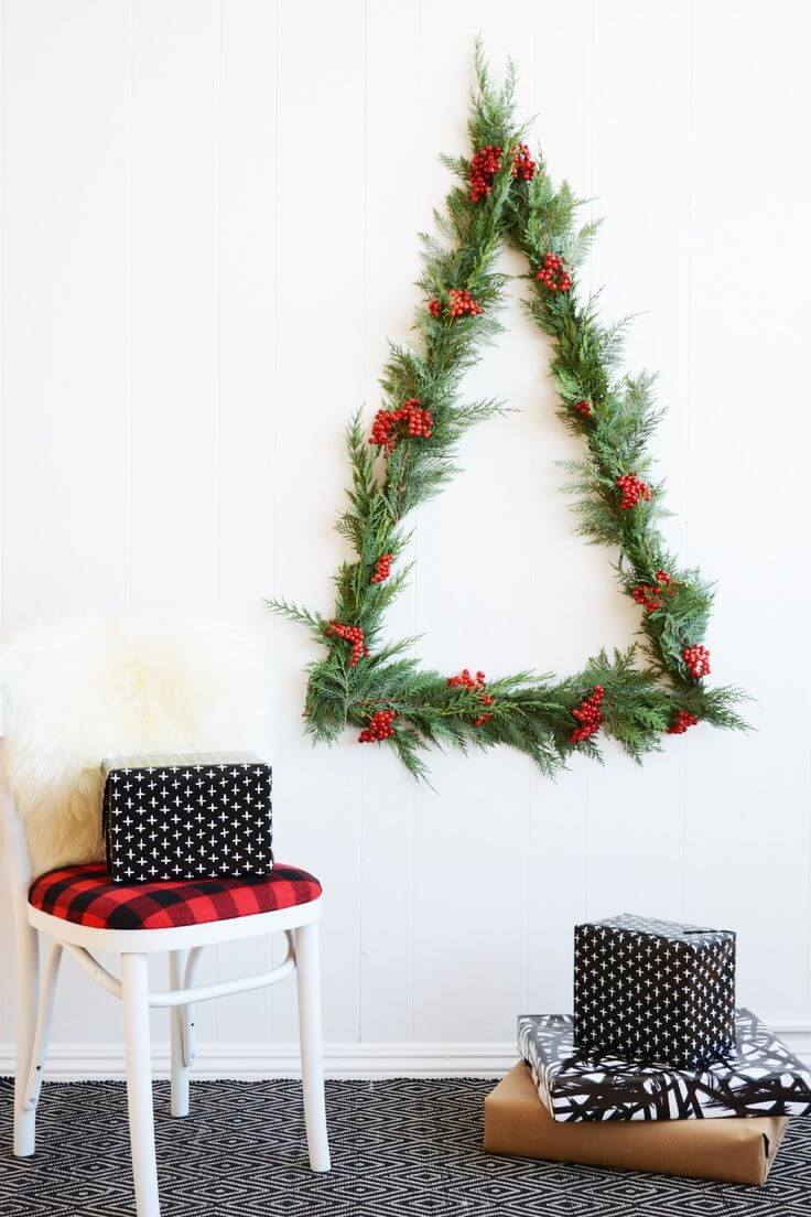 minimalist wall hanging christmas tree - Christmas Wall Decor