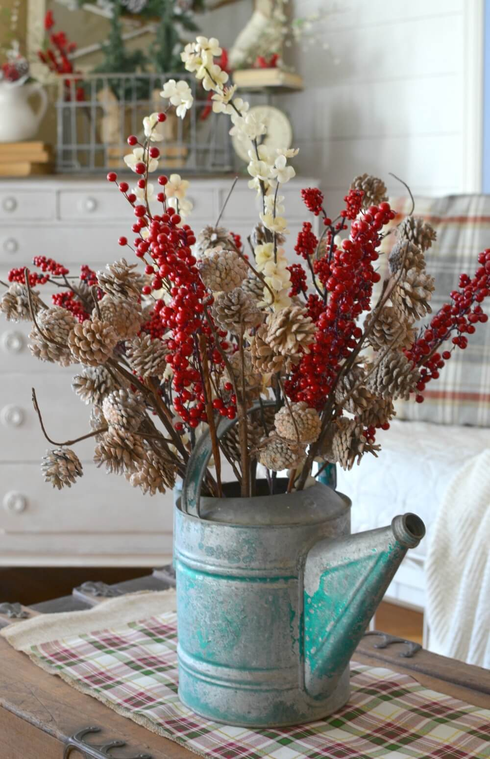 17 winter wonderland with a watering can - Teal And Red Christmas Decorations