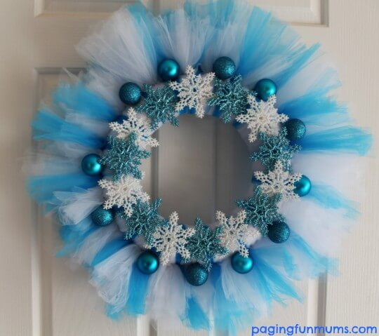 Frozen Inspired Blue Snowflake Design