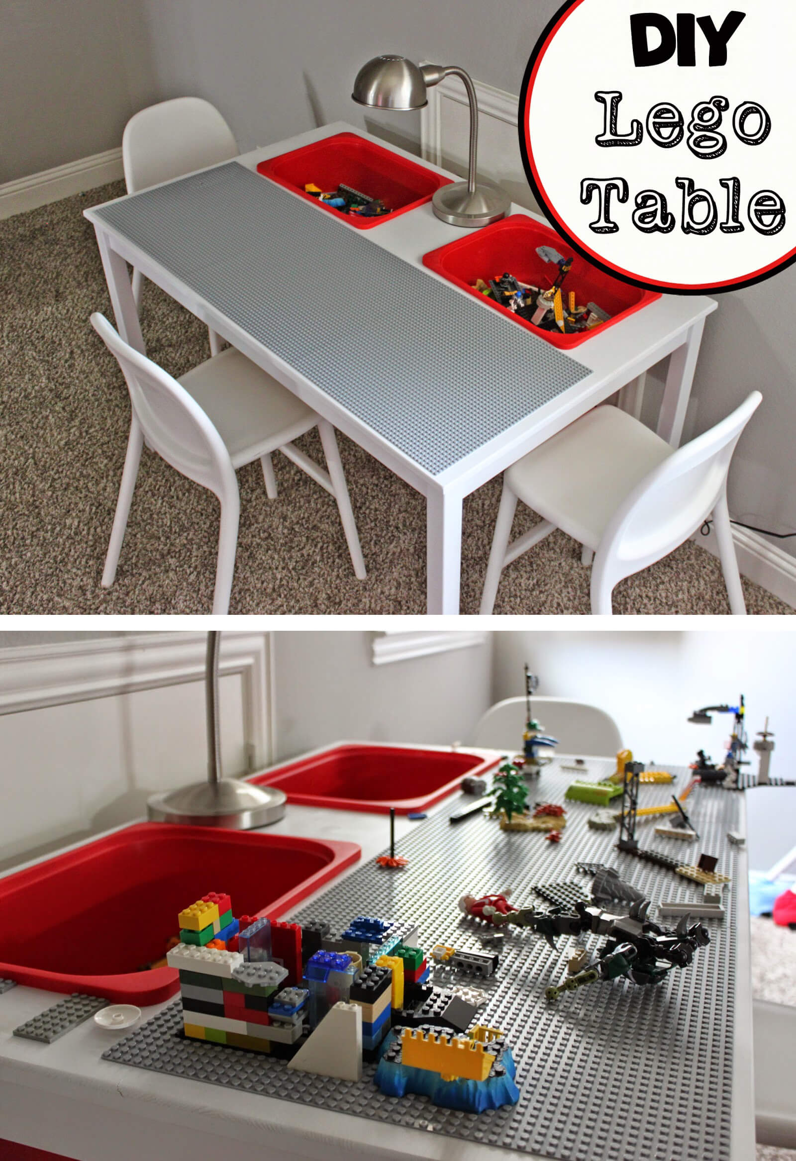 Spiffy and Simple DIY Lego Table