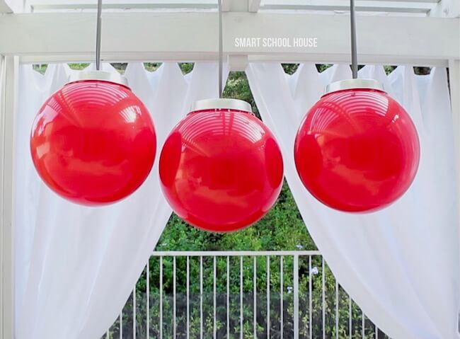 Super-sized Red Ball Christmas Bulb Decorations