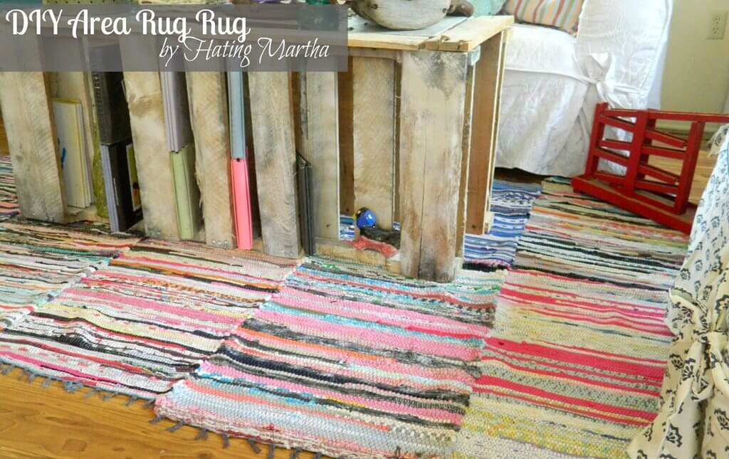 Colorful DIY Area Rug