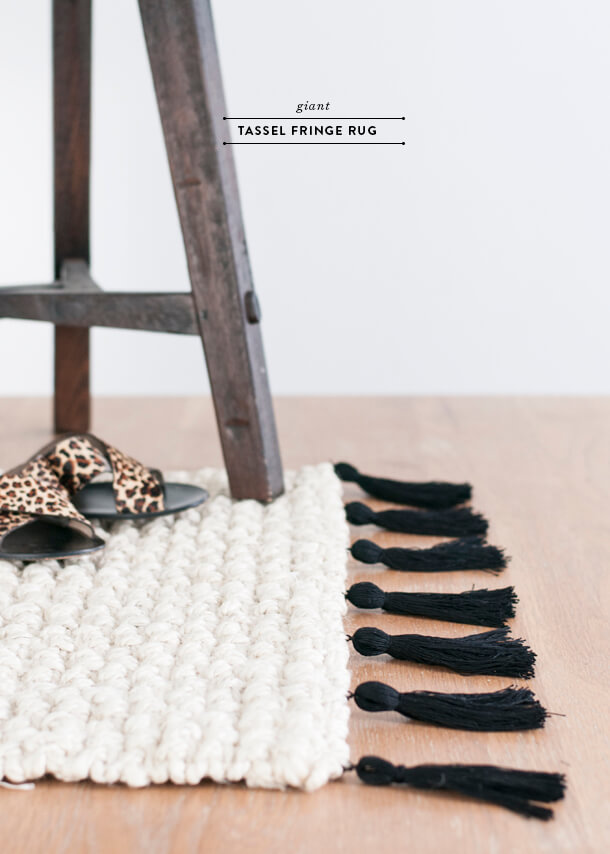 DIY Tassel Fringe Rug Upgrade