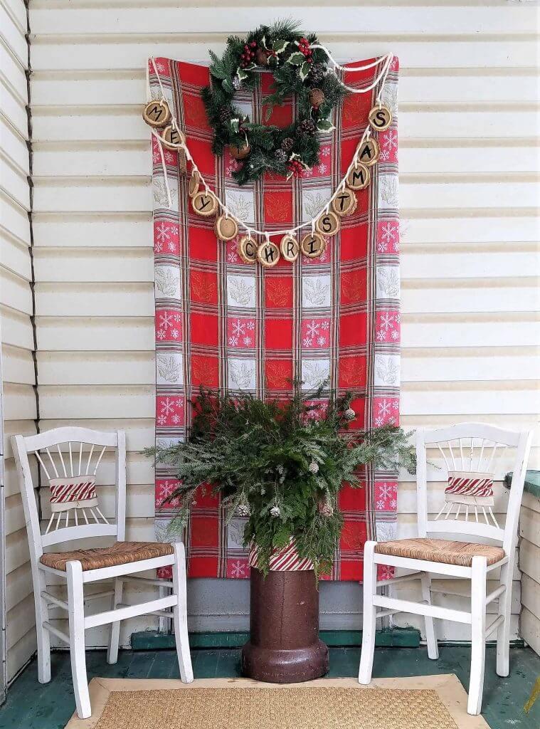 Merry Christmas Wooden Circles Garland