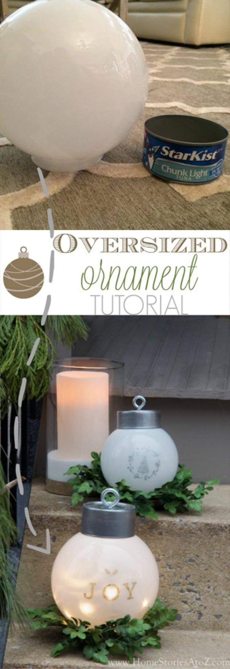 Oversized Christmas Tree Ornament and Lighting