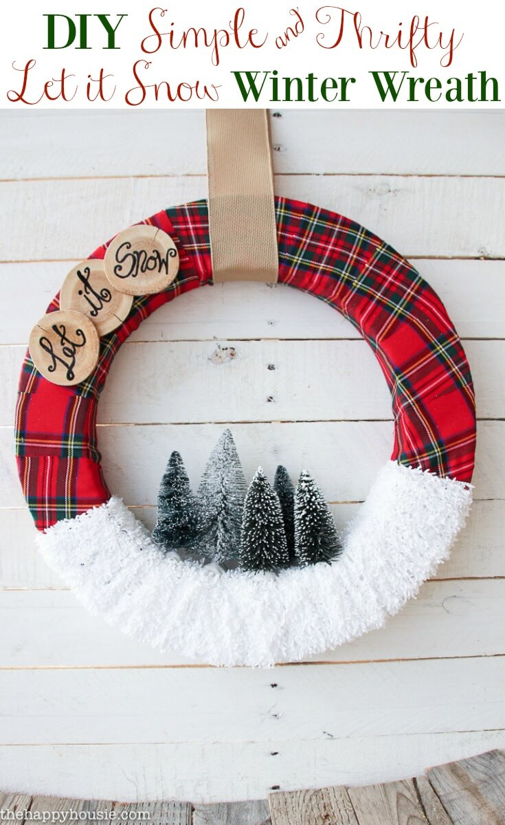 Kitschy Plaid Let It Snow Sentiment