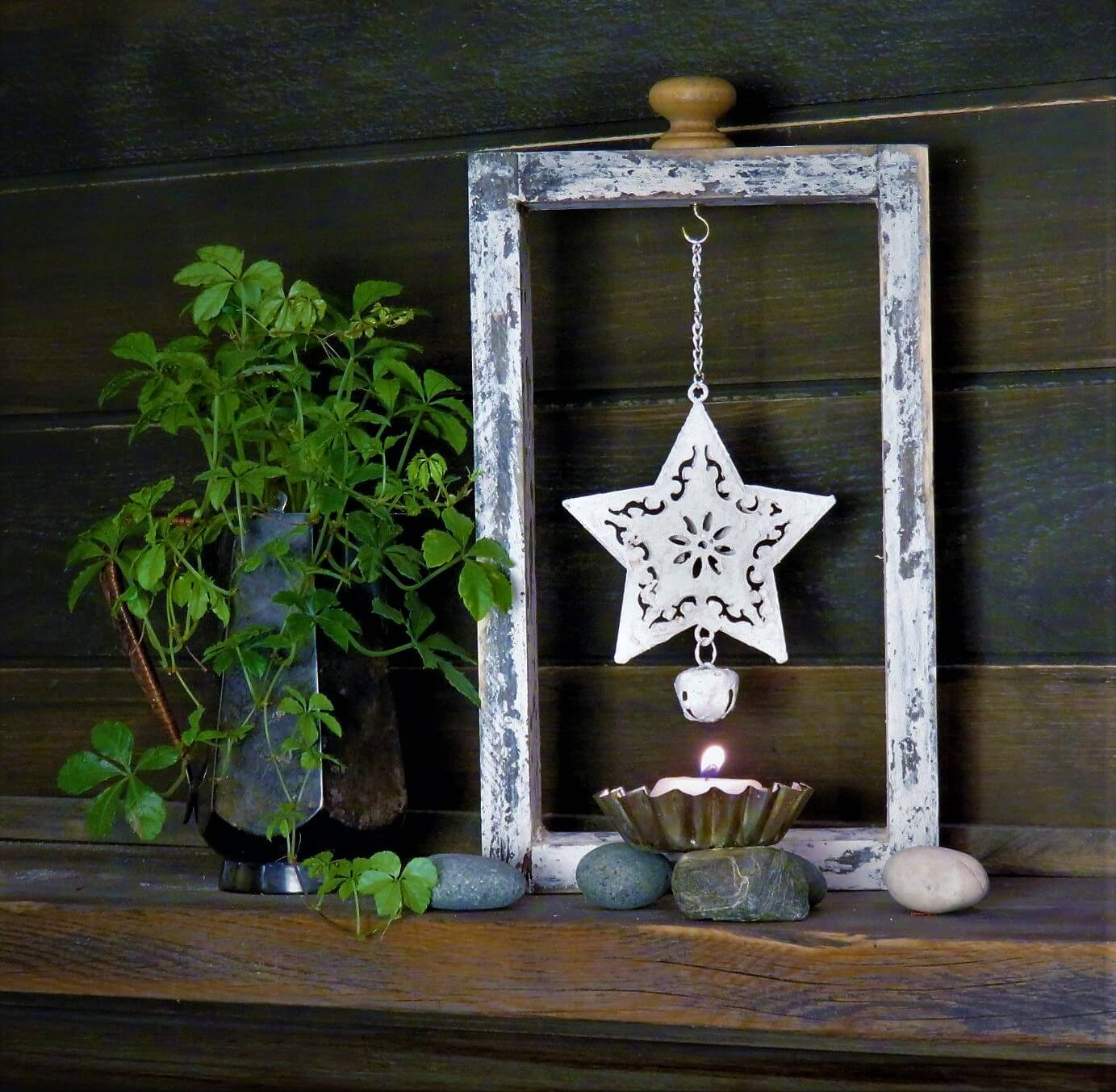 Tart Tin Tea Light and Fretwork Star
