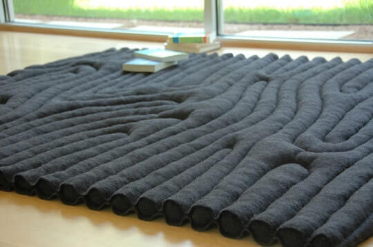 Repurposed Wool Army Blanket Floor Covering