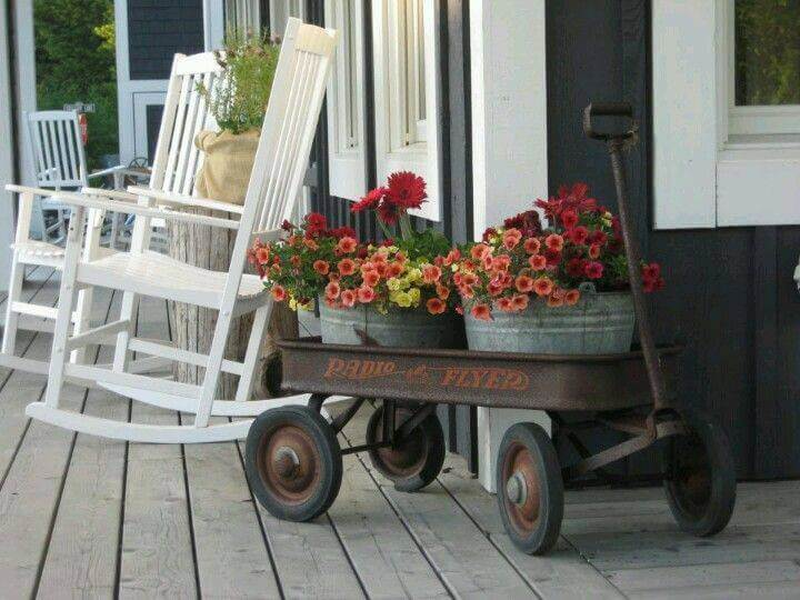 A Wagon Full of Flowers