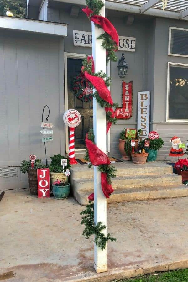 Winterize Every Inch for a Christmas Entryway