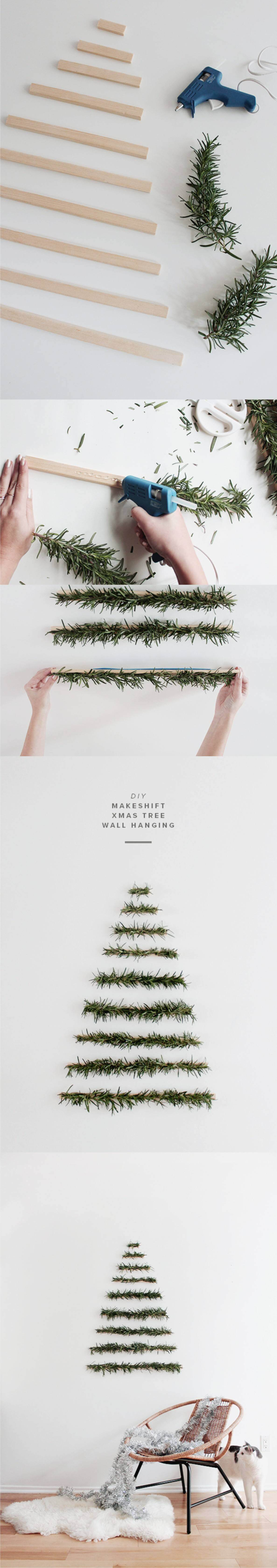 easy christmas tree wall decoration
