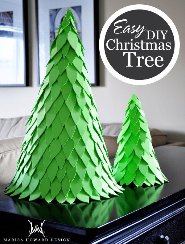 No-Mess DIY Christmas Tree Ideas