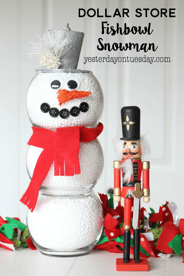 Fishbowl and Styrofoam Bead Snowman