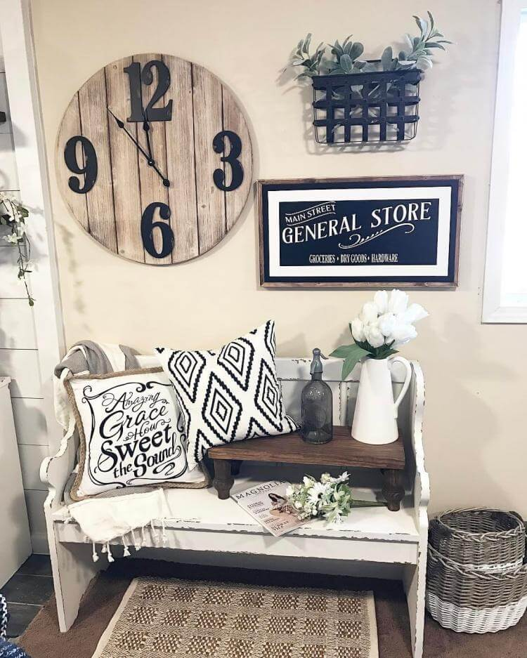 Farmhouse Living Room Wall Decor: 45+ Best Farmhouse Wall Decor Ideas And Designs For 2019