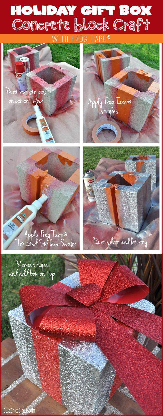 Cement Block Gift Box Set and Bow