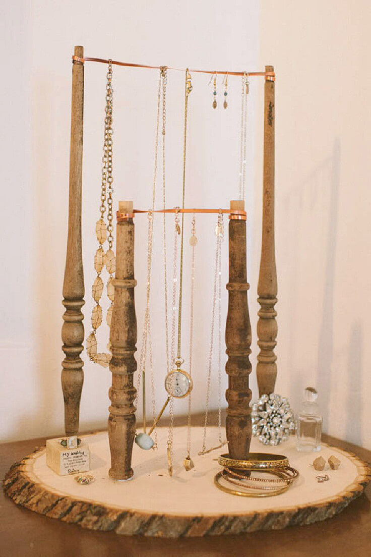 Simpler Time Reclaimed Wood Jewelry Display
