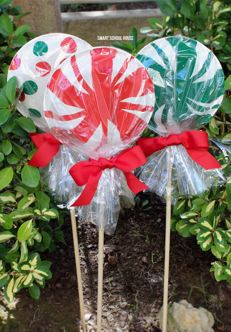 Giant Paper Plate Lollipop Candy