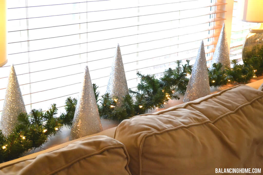 Simple DIY Glitter Christmas Tree