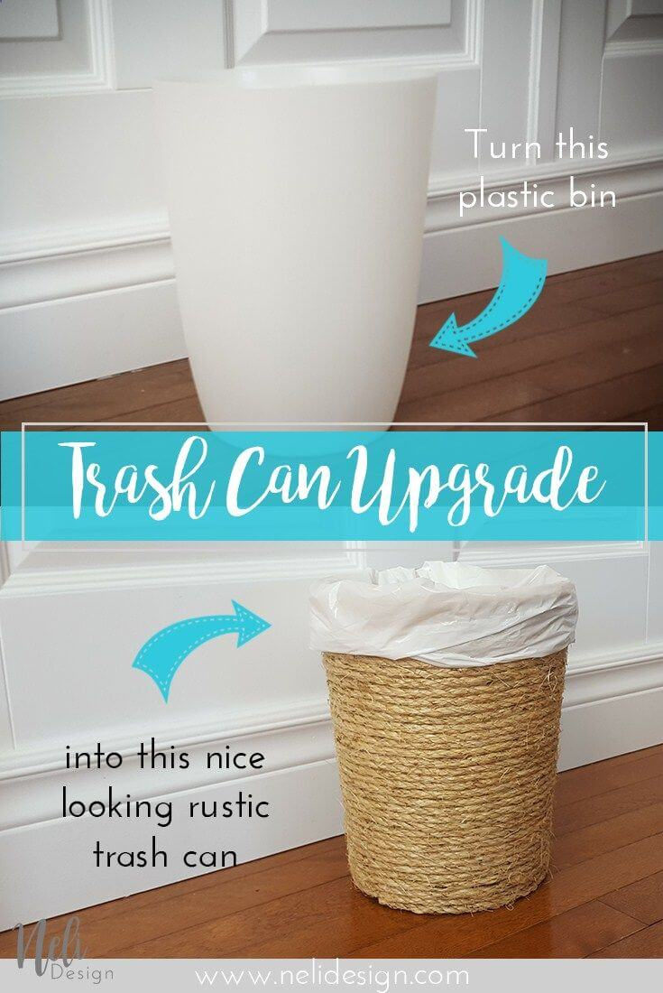 From Plastic to Rustic Trash Cans