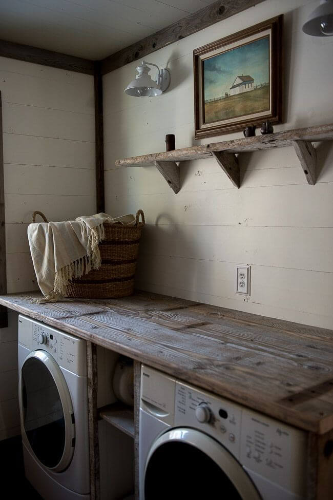 Wonderfully Rustic Laundry Room Workspace Photo Gallery