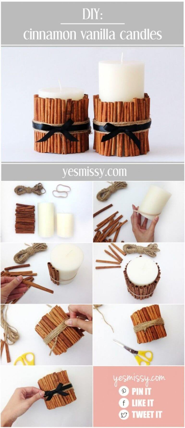 Cinnamon Sticks Spice Up Candles