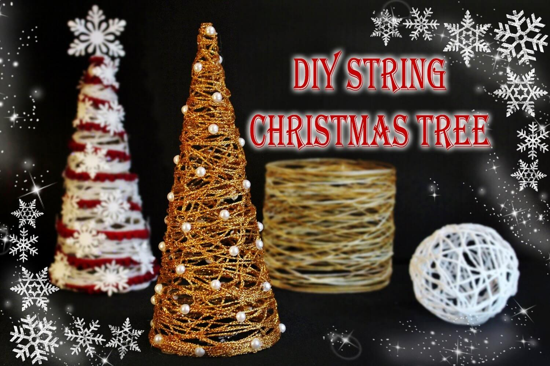 DIY String Holiday Christmas Tree
