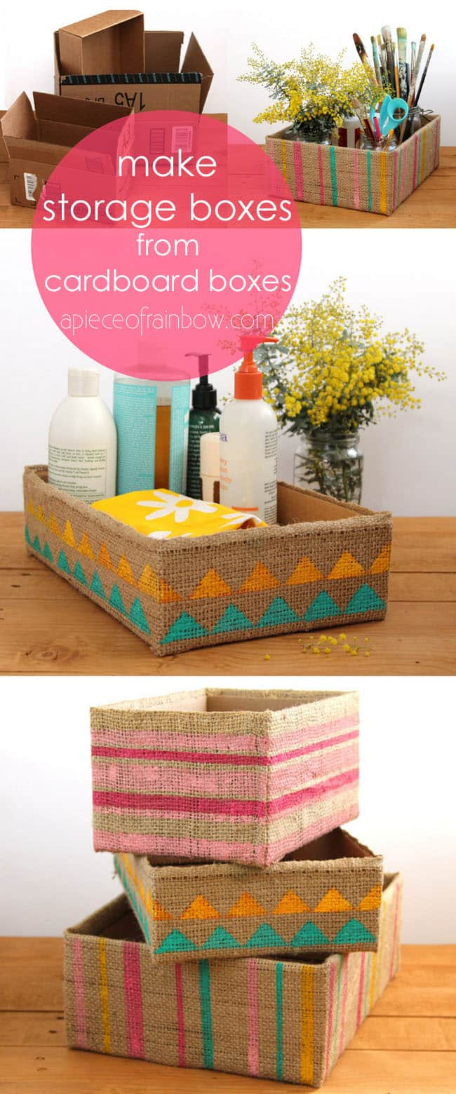 Simple But Decorative Storage Boxes